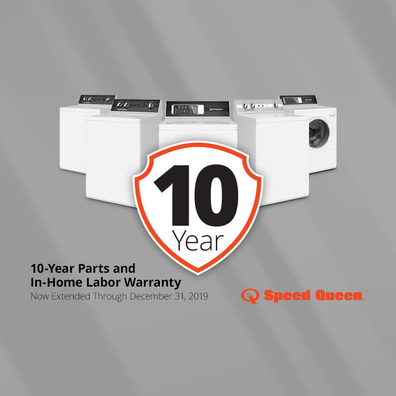 Speed Queen 10 Year Warranty Promo | The Appliance Care Company provides appliance repair service, in-home service repair, washer repair, dryer repair, stove repair, refrigerator repair, and microwave repair in Belton MO, Raymore MO, Peculiar MO, Harrisonville MO, Blue Springs MO, Grandview MO, Kansas City MO, Lee's Summit MO, Greenwood MO, Stilwell KS, Bucyrus KS, Olathe KS, Overland Park KS, Leawood KS, Prairie Village KS, Mission KS, Shawnee KS, Lenexa KS